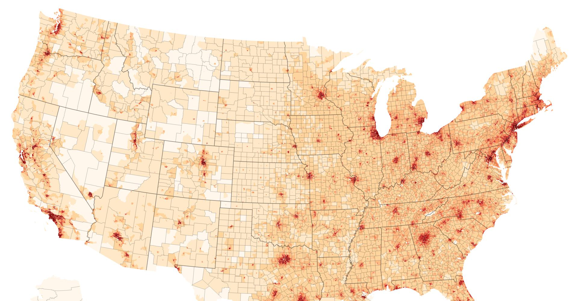 U S  Population Density - bl ocks org
